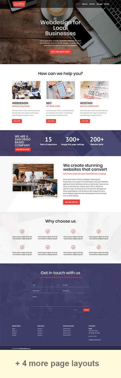 divi webly layout pack free