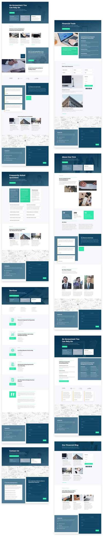 free divi layout for accountants