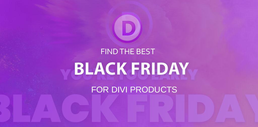 Elegant Themes & Divi Black Friday 2018 (25% OFF)