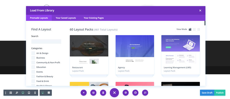 browse divi layout pack