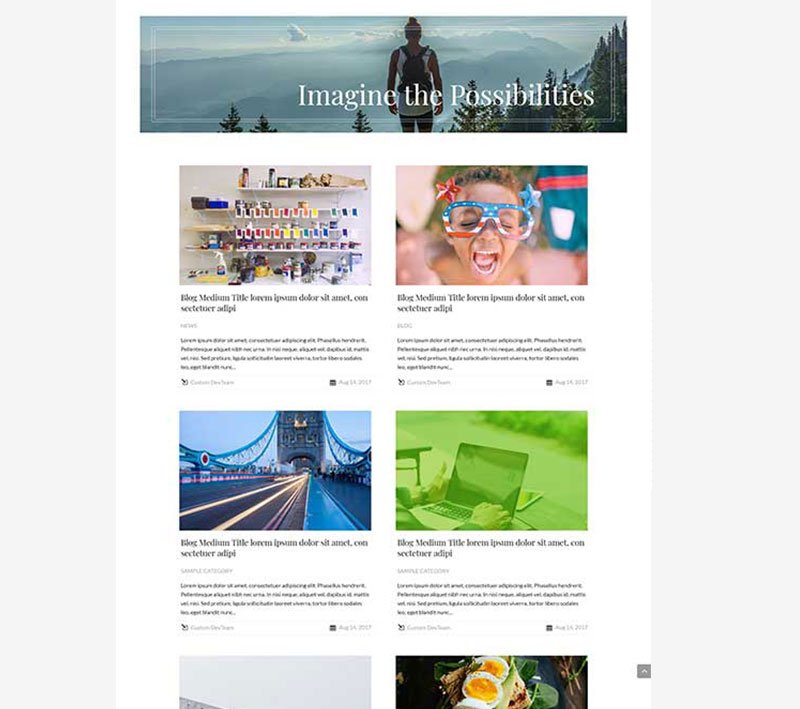 divi blog layout hover effects