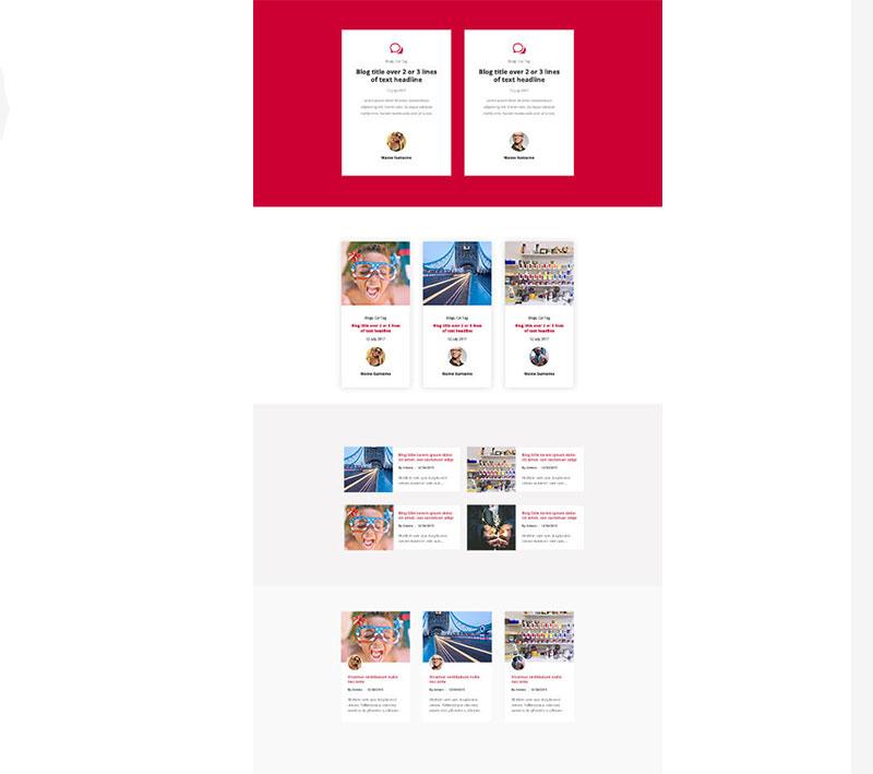 divi blog layout pack