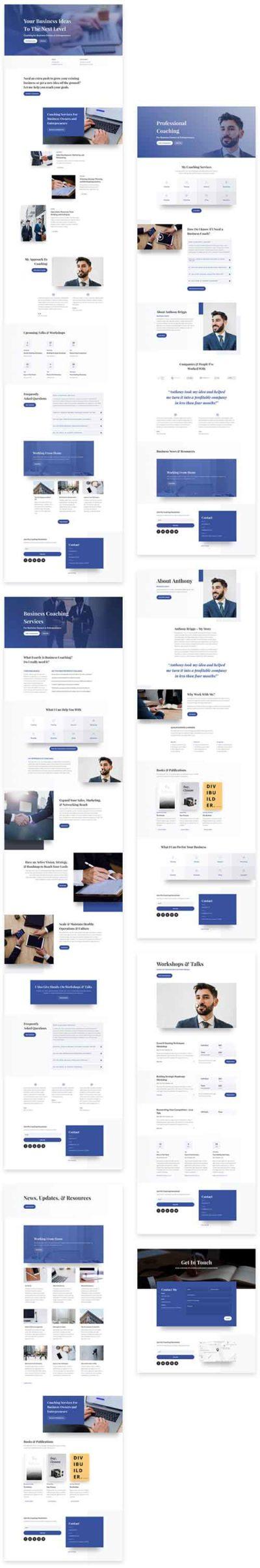 divi business coach layout pack