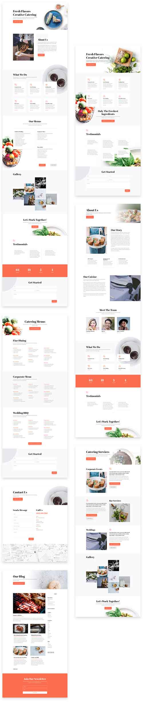 divi catering layout pack