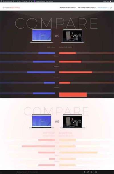 Divi comparison chart layout