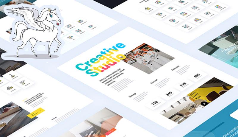 pegasus premium Divi layout pack