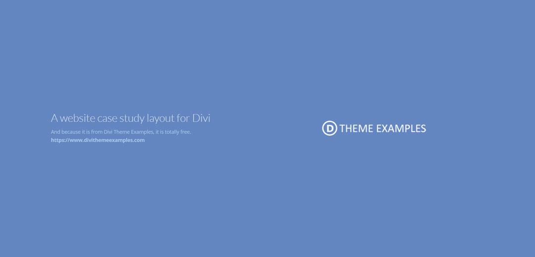 divi portfolio case study layout