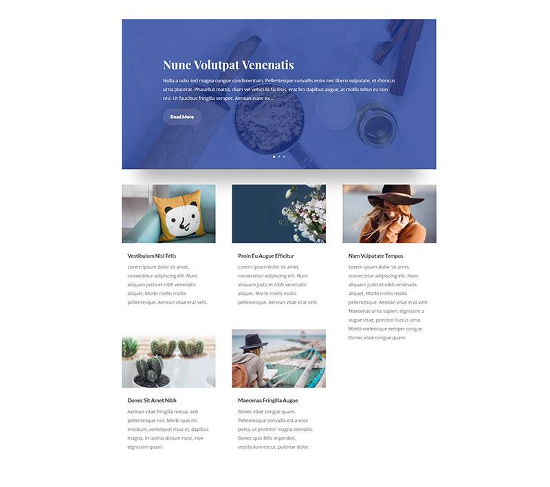 divi post slider blog layout