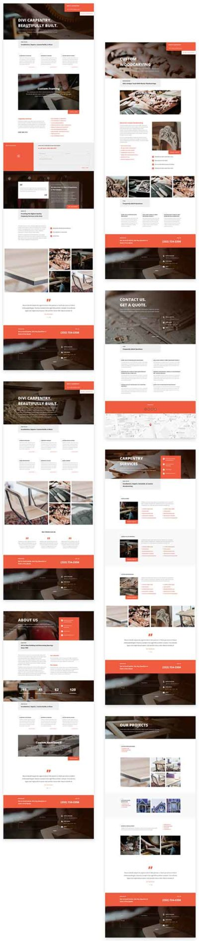 free divi layout for carpenters