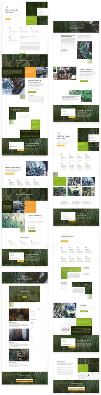 free gardeners layout pack