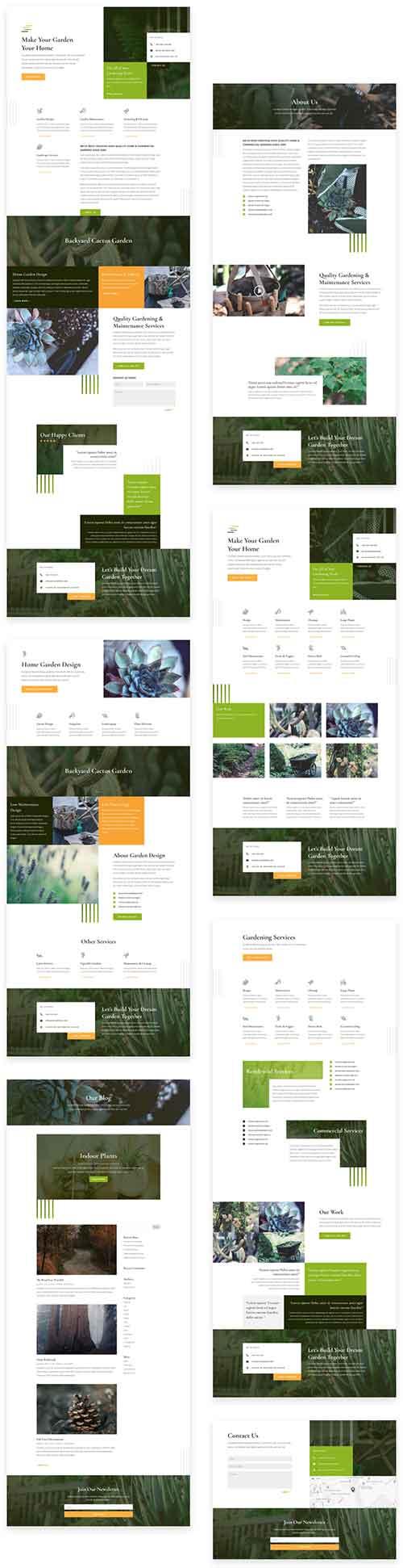 free gardeners layout pack