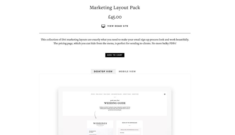 marketing layout pack
