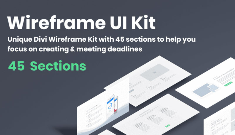 optimius wireframe UI layout kit