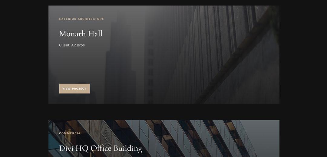 Architecture Firm Portfolio Page