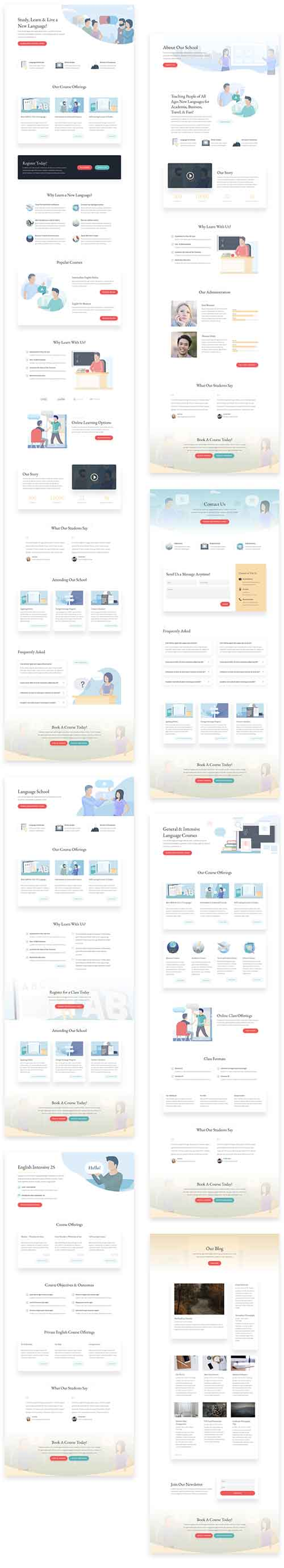 school layout pack for divi