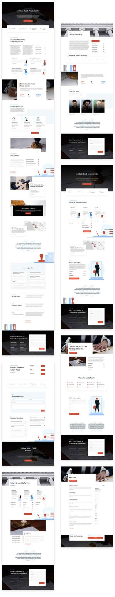 Notary Service web template