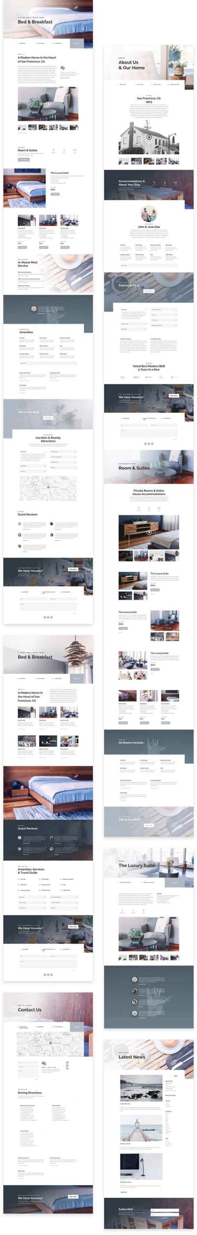 divi guest house layout pack