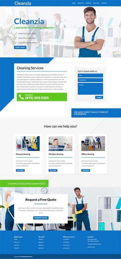 divi layout pack cleaning website
