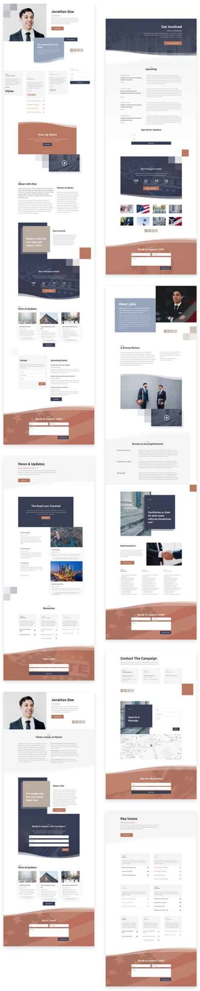 divi politician layout pack
