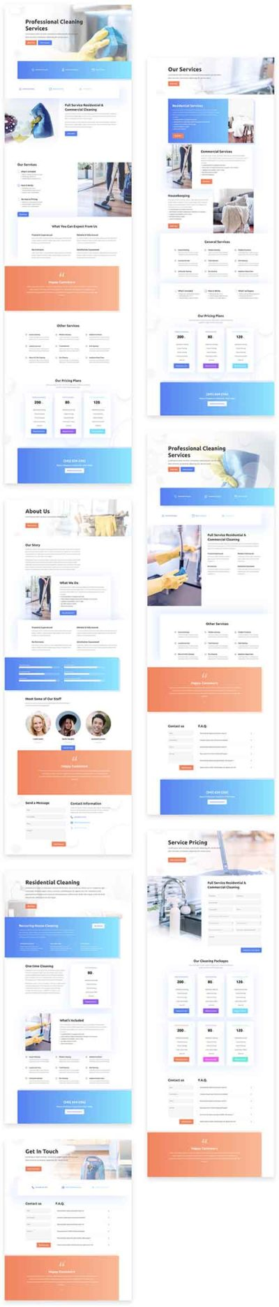 free cleaners layout pack