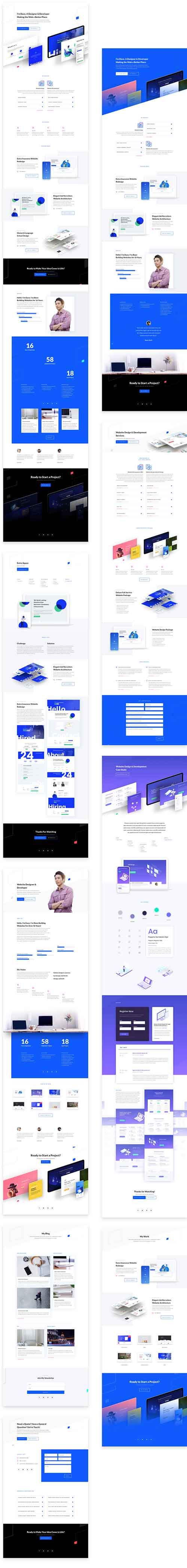 free web design Divi template