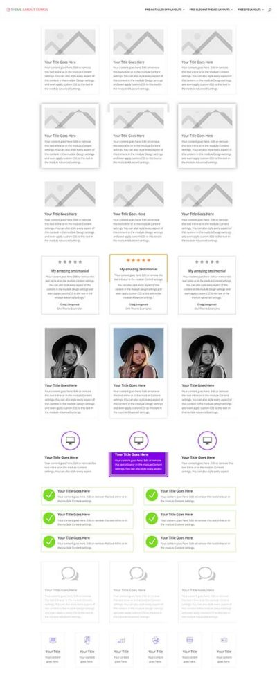 divi blurb module hover effects