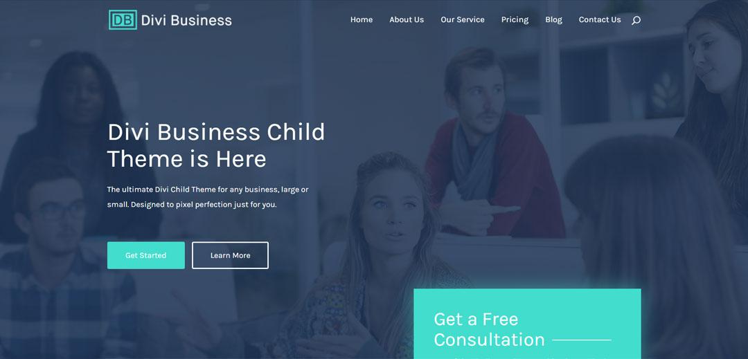 free divi child theme - business