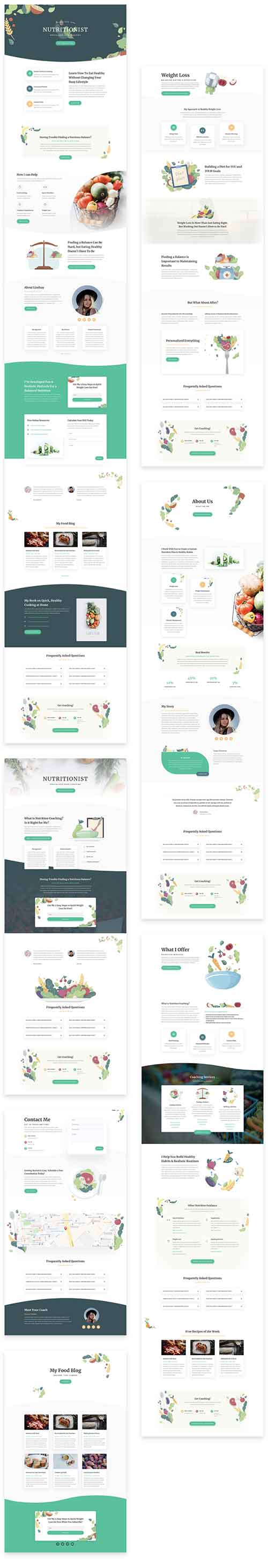 divi food layout template