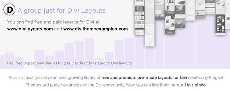 divi layouts facebook group
