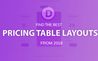 Best Divi pricing table layouts (2018)