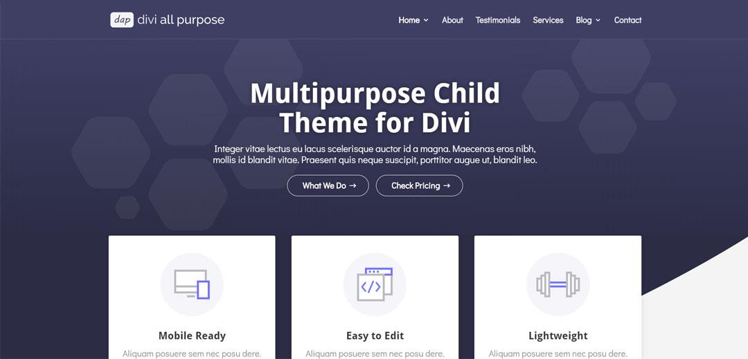 free all purpose divi child theme