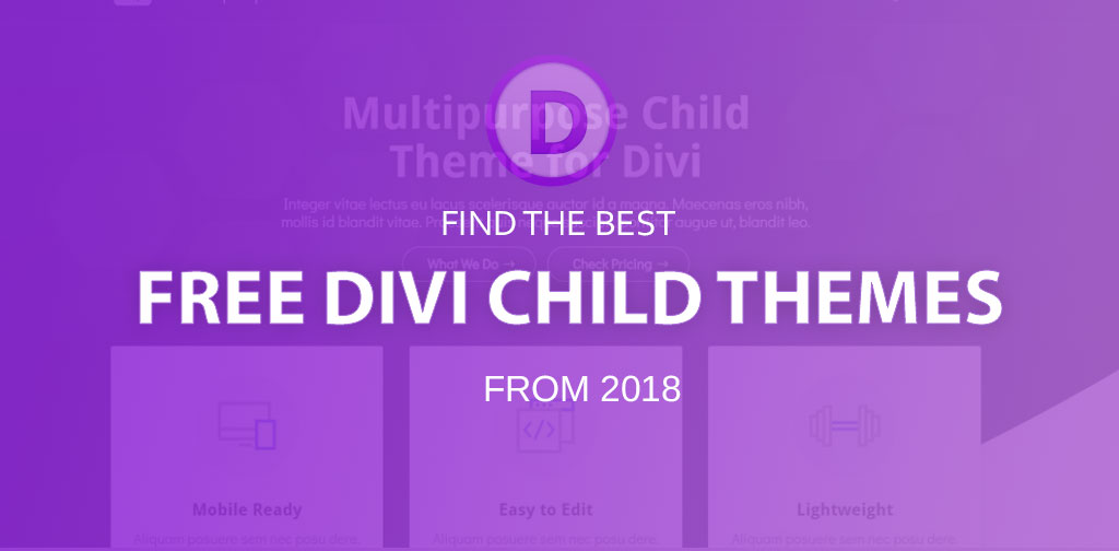 6 free Divi child themes (2018)