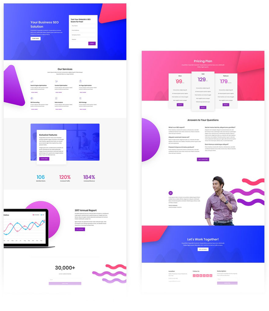 free divi layout agency