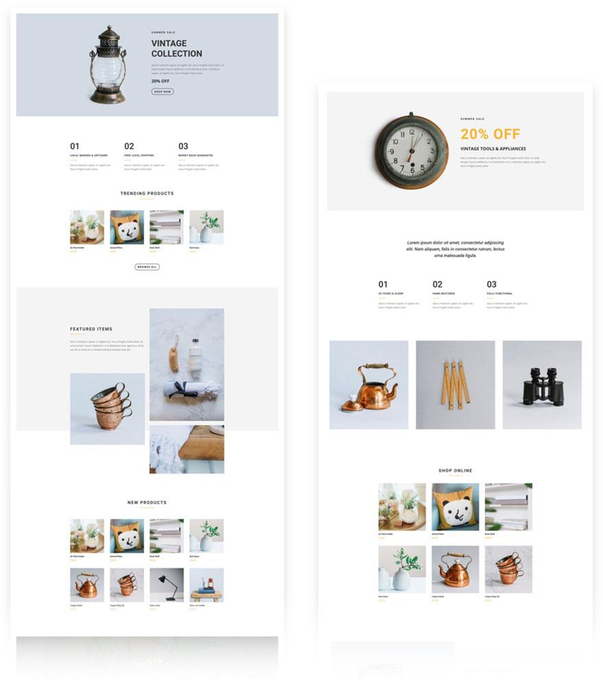free divi layout shop