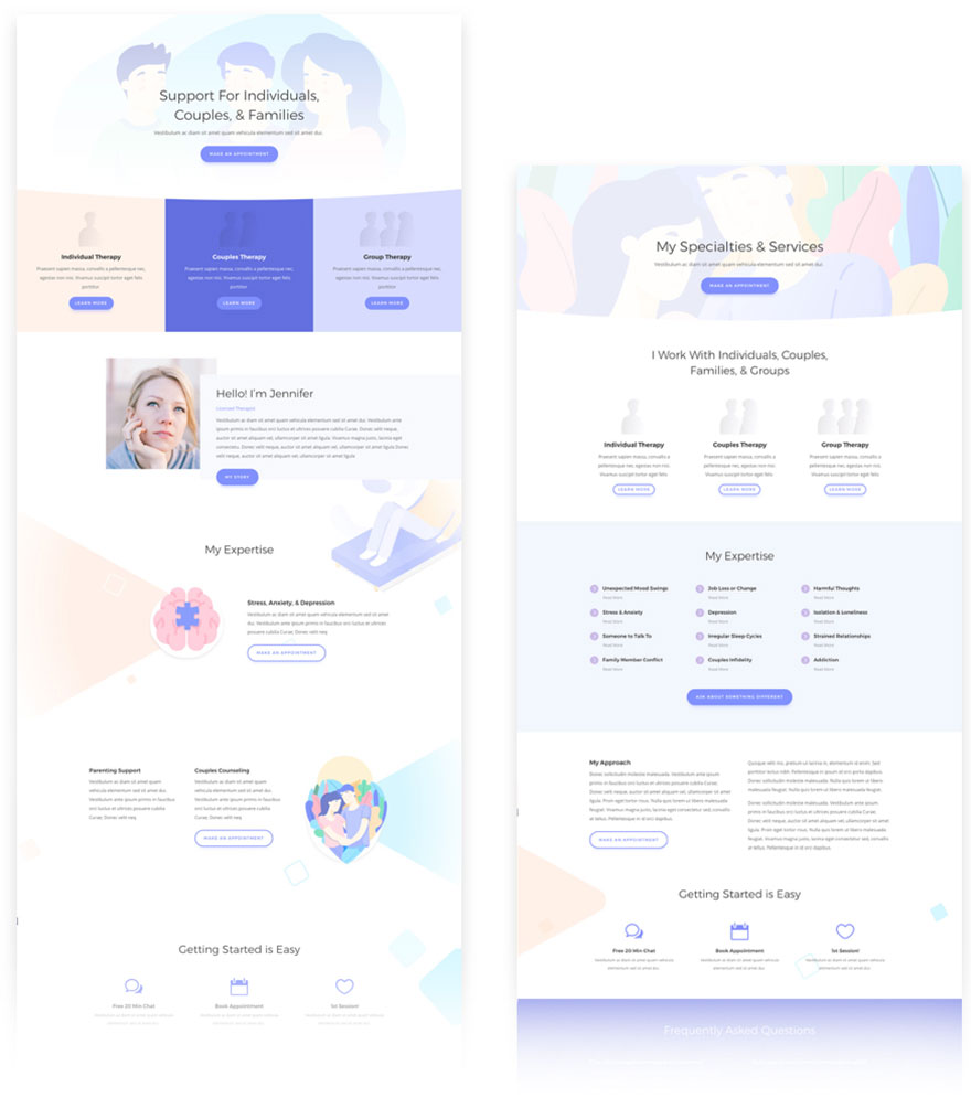 free divi layout therapist
