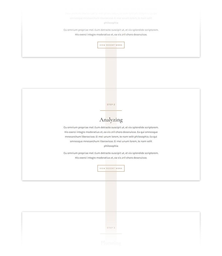 free divi layout timeline json