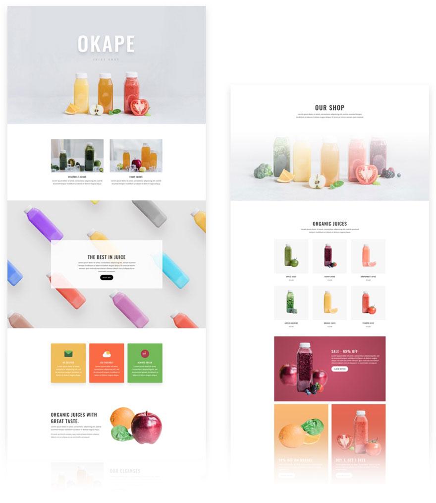 free divi layout juice bar