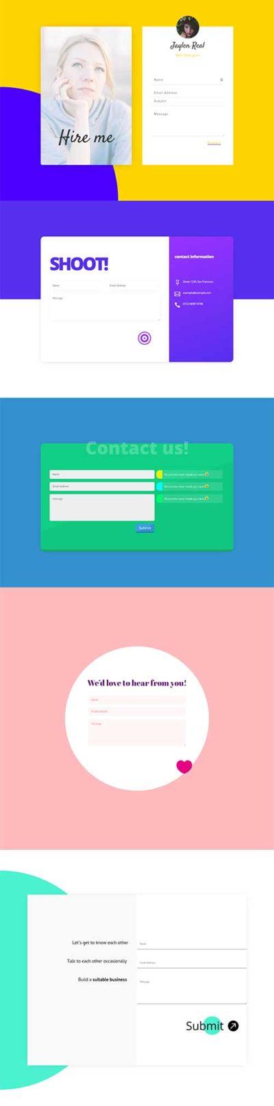5 divi contact form modules
