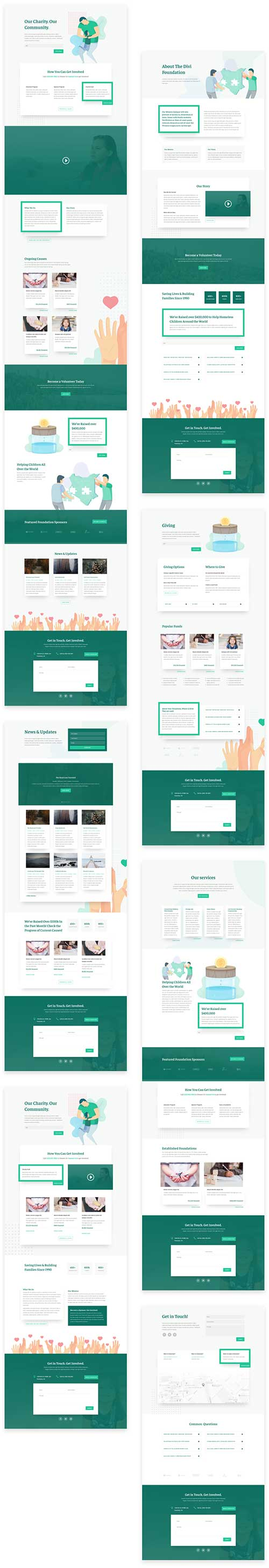 charity web template