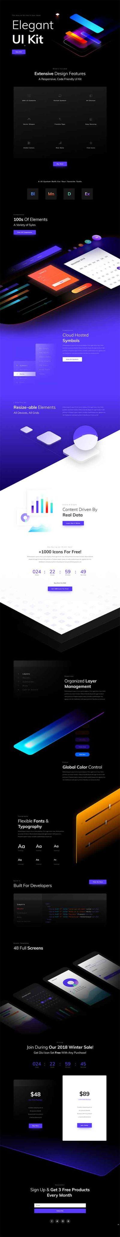 divi black friday UI layouts