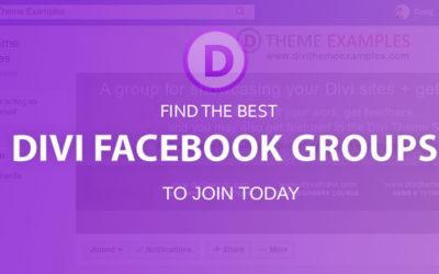 Divi Facebook groups