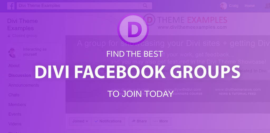 Divi Facebook groups