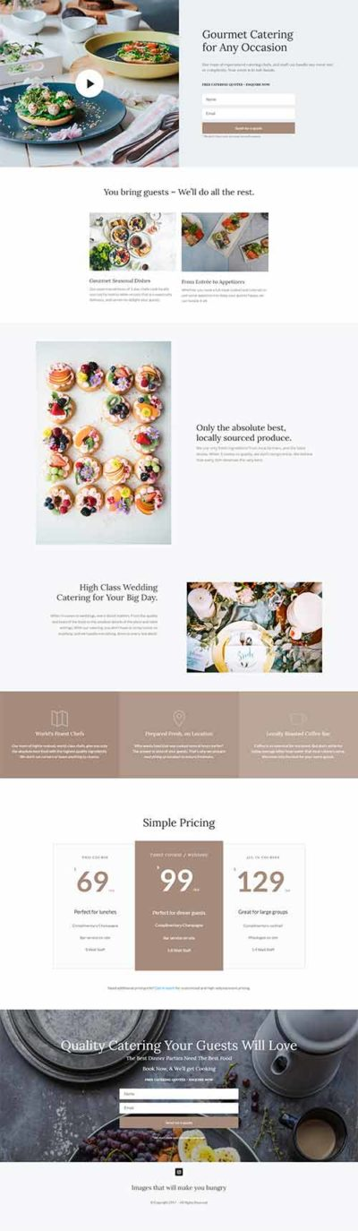 divi food layout