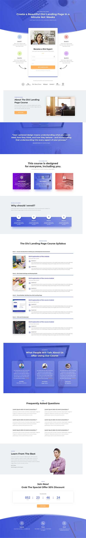 divi landing page for courses