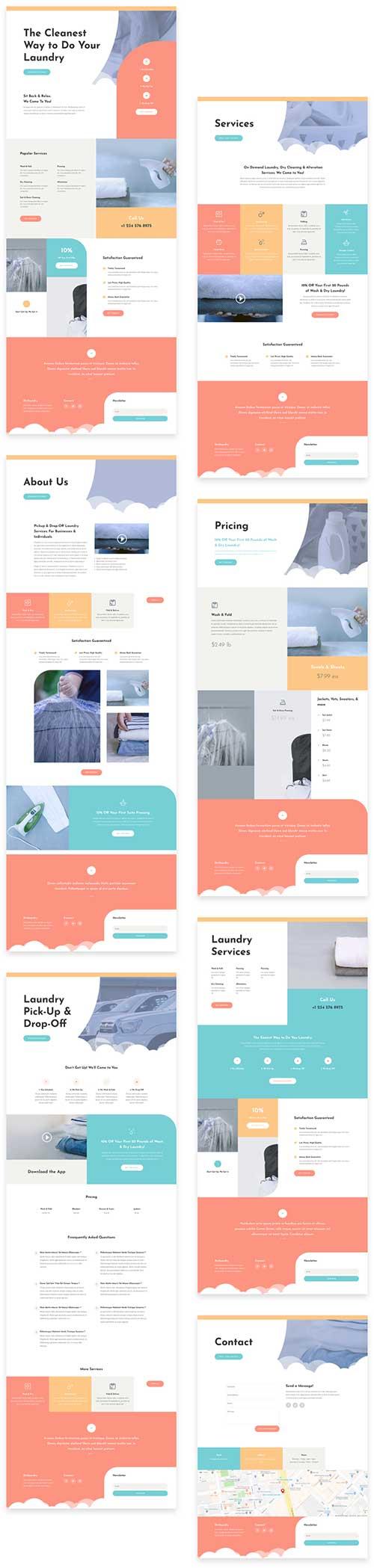 divi laundry layout pack