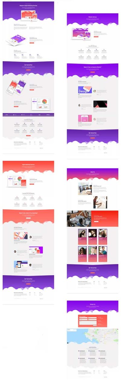 divi marketing agency layout pack