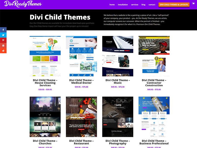 divi ready themes