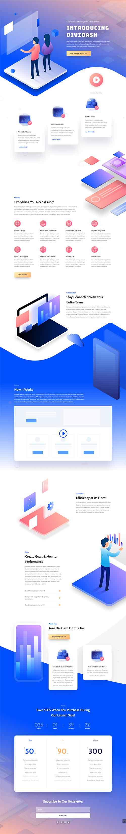 divi software landing layout