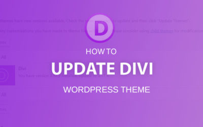 How to update Divi Theme