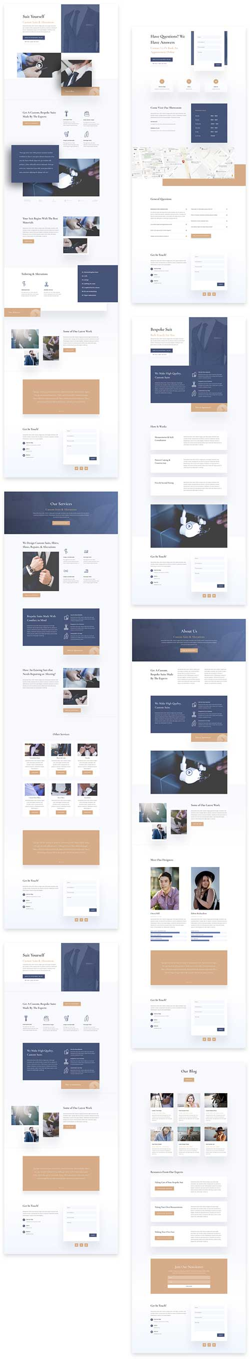 divi layouts for clothing tailor